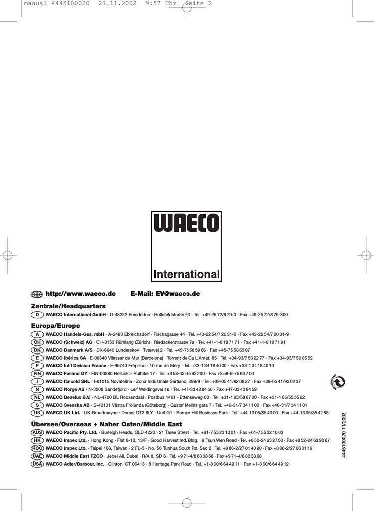 waeco cf 40 instruction manual manualzz com rh manualzz com Samsung Tablet Ce0168 Instruction Manual Samsung Manual PDF