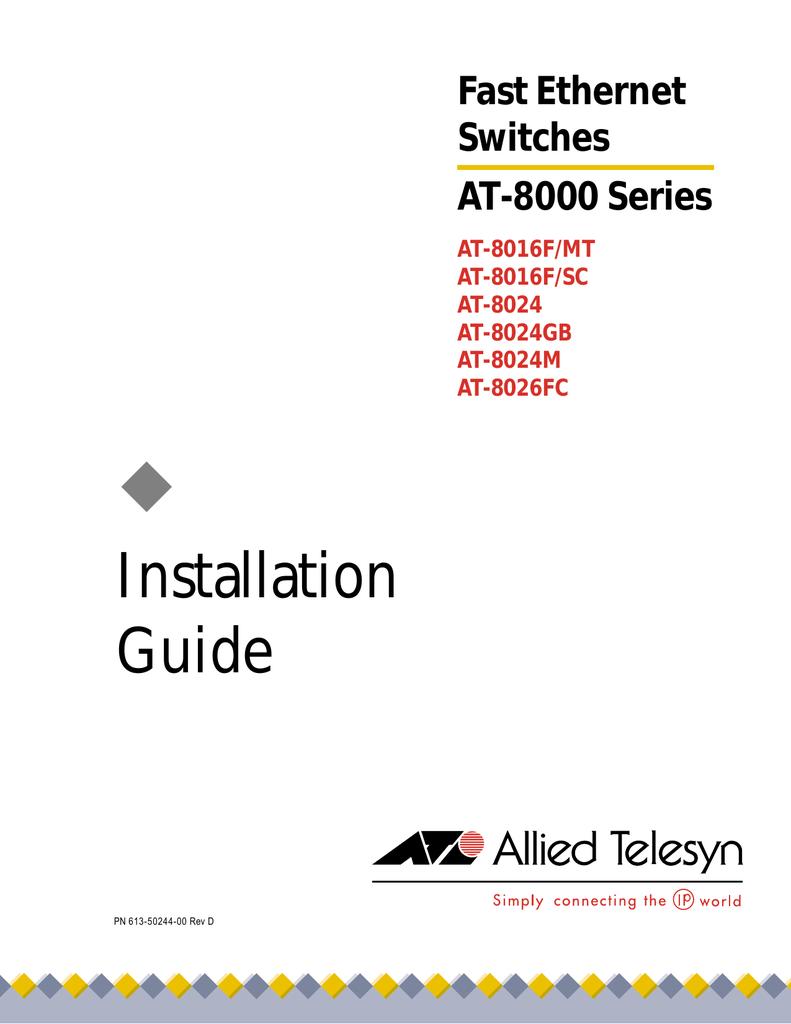 Allied Telesis AT-8026FC 64 Bit