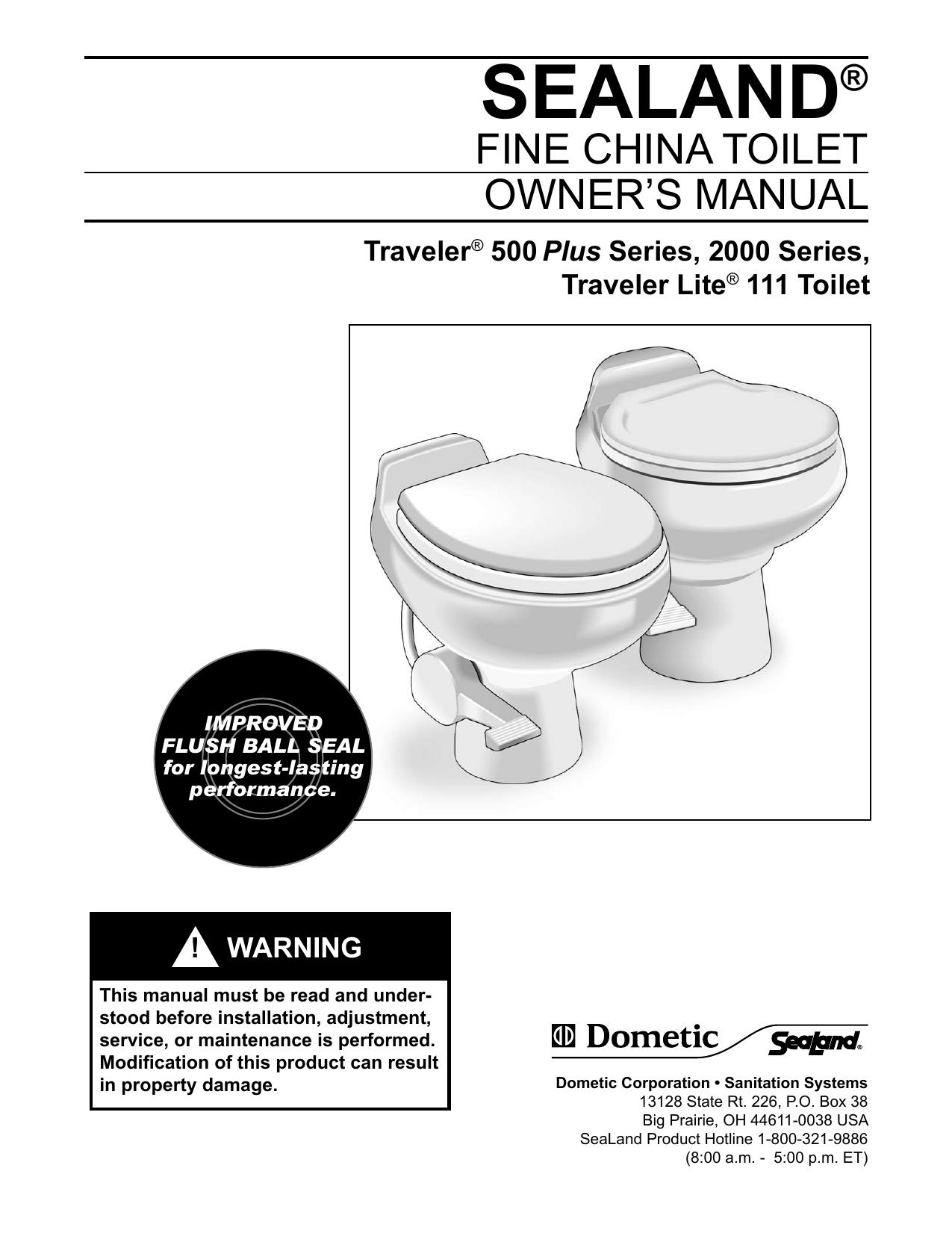 SeaLand Traveler toilets owner`s manual | manualzz com