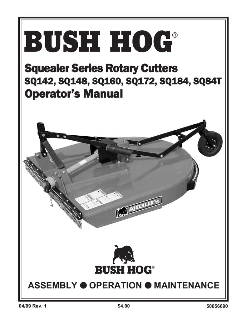 Bush Hog SQ160 Operator`s manual | manualzz com