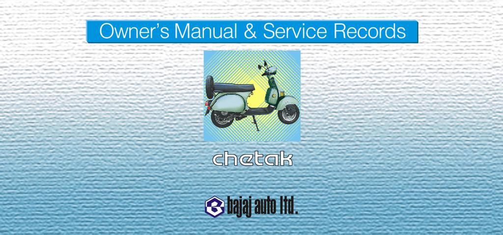 bajaj chetak owners manual