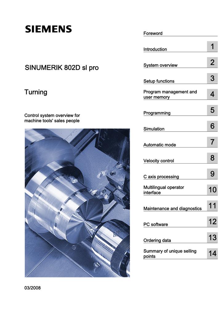 Siemens SINUMERIK 802D sl Technical data   manualzz com