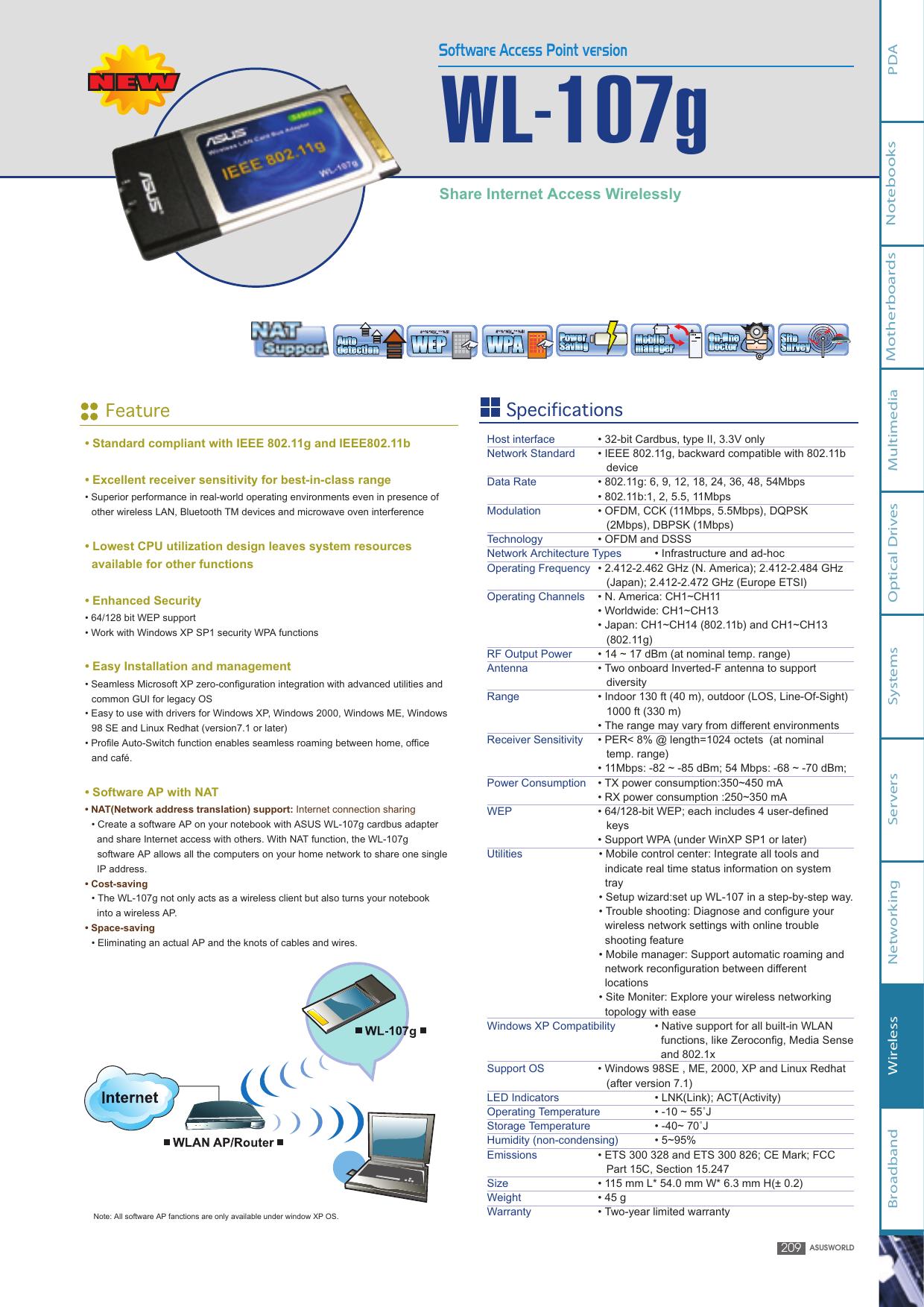 DOWNLOAD DRIVERS: ASUS IEEE 802.11G WL-107G