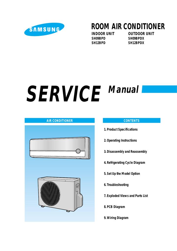 Samsung SH09BPDX Product specifications | manualzz com