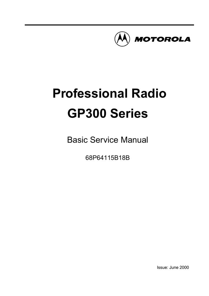 Motorola Gp300 Manual