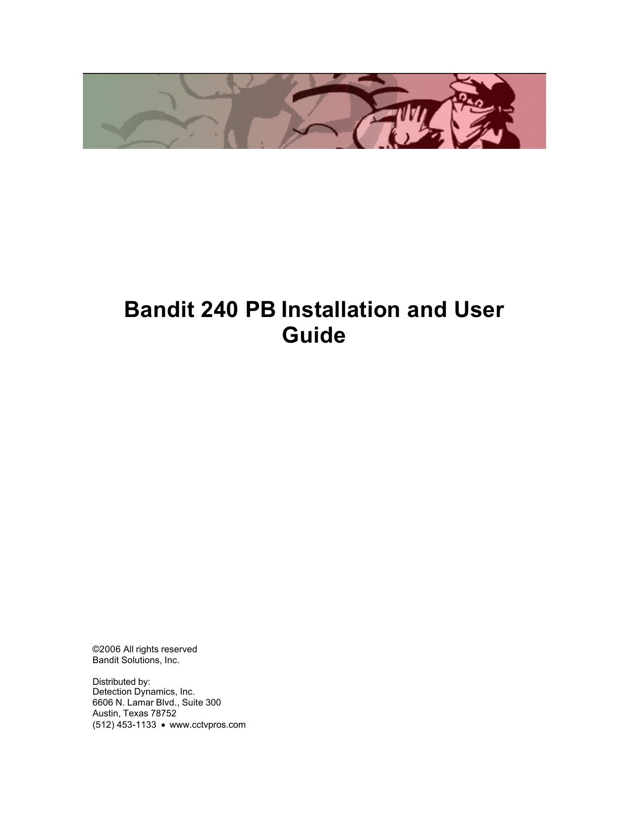 Fog bandit manual.