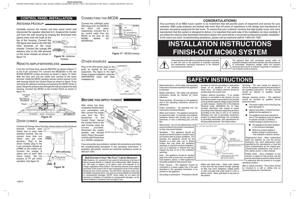 amp hook up instructies