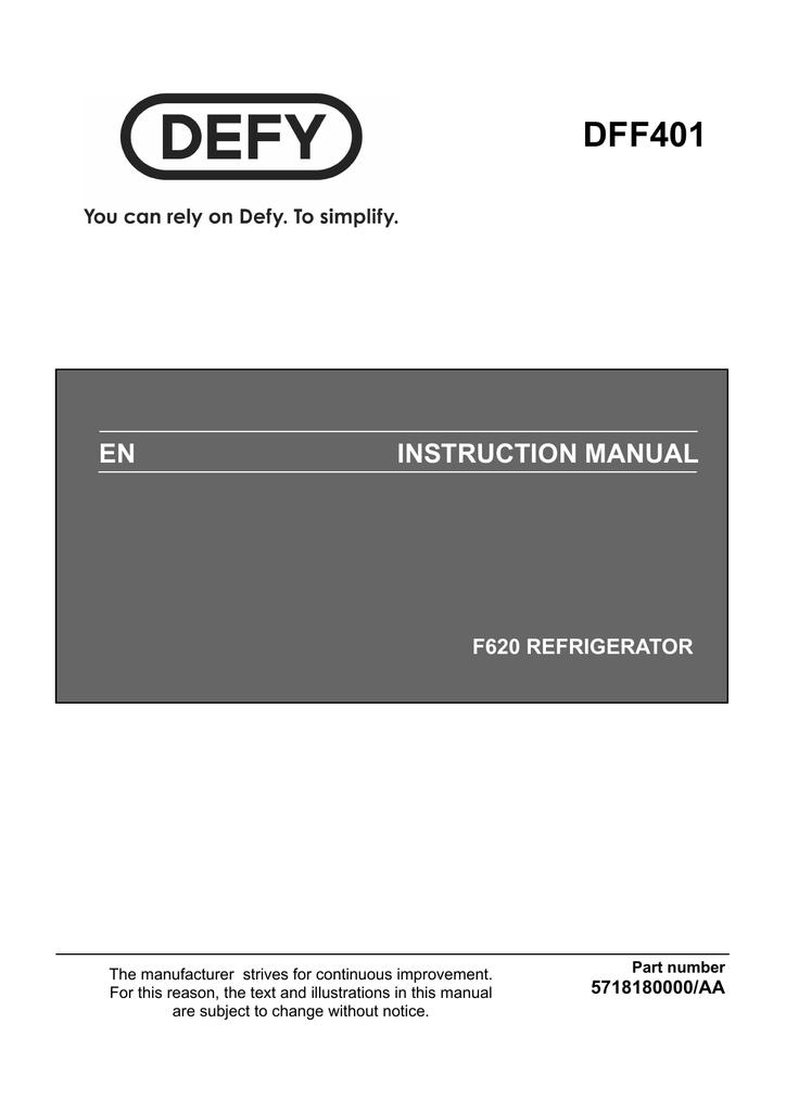 Defy F620 Instruction manual   manualzz.com F Wiring Diagram on
