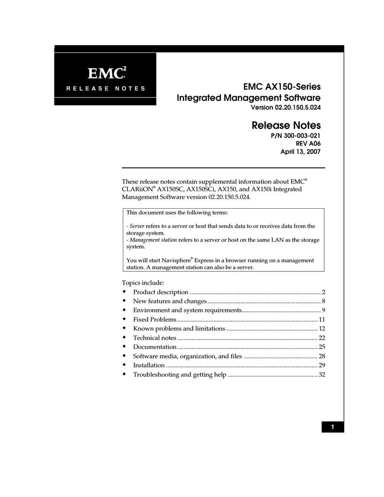emc clariion ax150 series installation guide manualzz com rh manualzz com EMC San EMC San