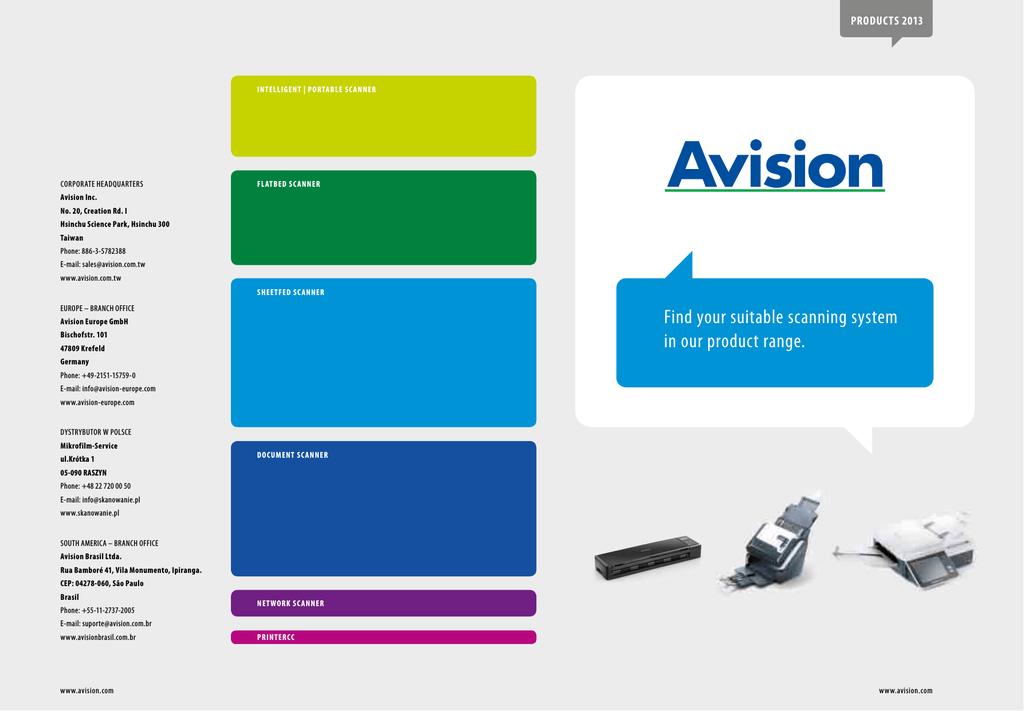 Avision AV1760 Scanner TWAIN Drivers Update