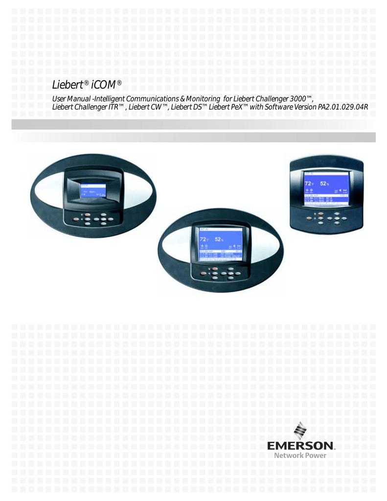 emerson liebert icom user manual manualzz com rh manualzz com Liebert Parts Liebert CRAC Unit Manual