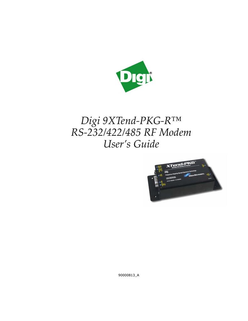 XTend-PKG 900MHz RS-232//485 RF Modem XT09-PKI-R Great Condition