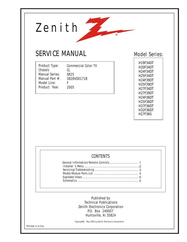 zenith h27f39dt service manual manualzz com rh manualzz com