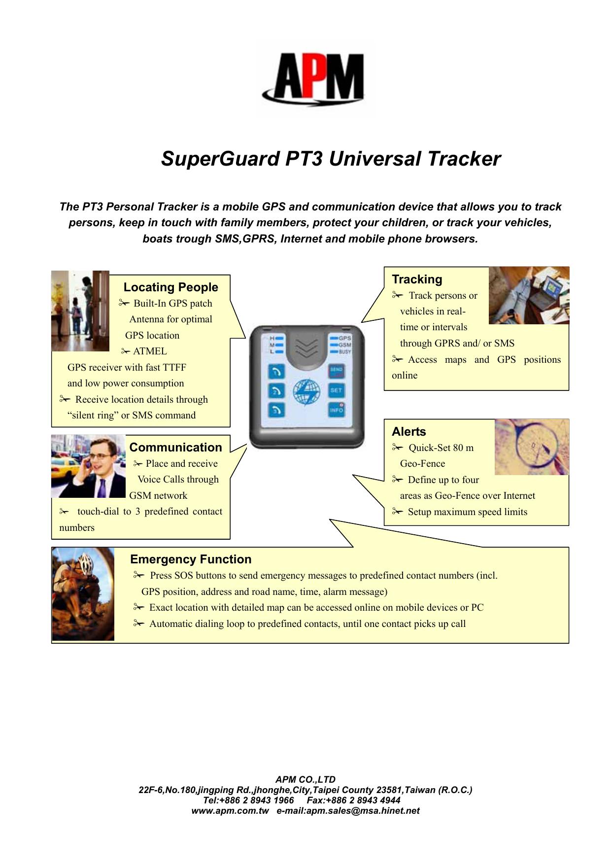 SuperGuard PT3 Universal Tracker | manualzz com