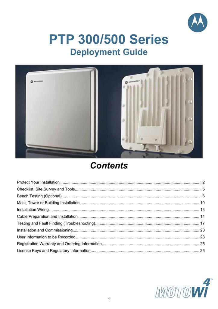 Motorola ptp 600 series manuals   manualslib.