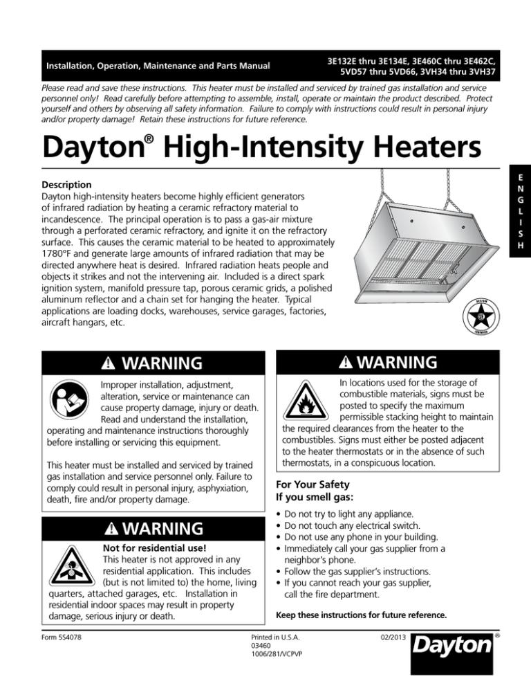 Dayton 3E134E Troubleshooting guide   ManualzzManualzz