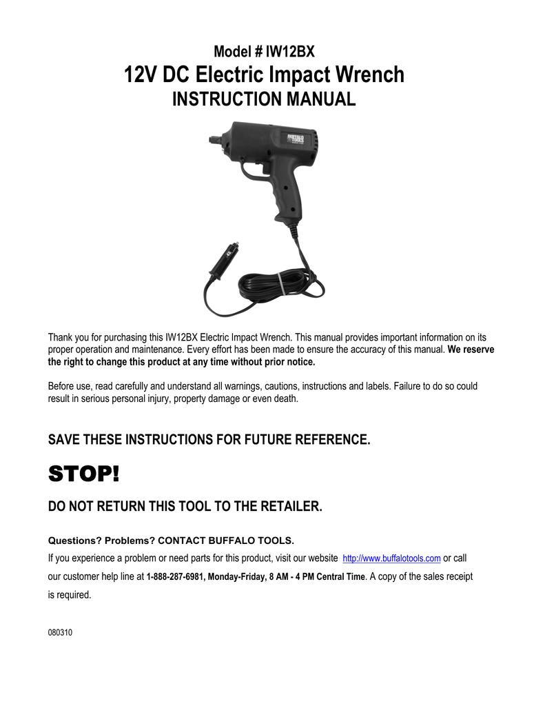 Buffalo tools iw12bx instruction manual publicscrutiny Gallery