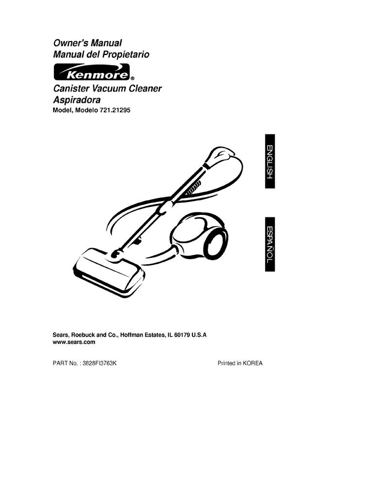 Sears 72121295000 Owners Manual Vacuum Cleaner Wiring Diagram