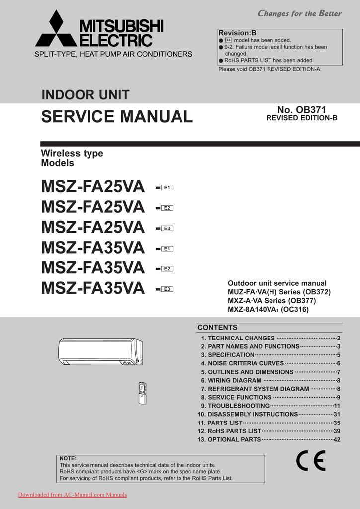 Wiring Diagram For Mitsubishi Ac Unit
