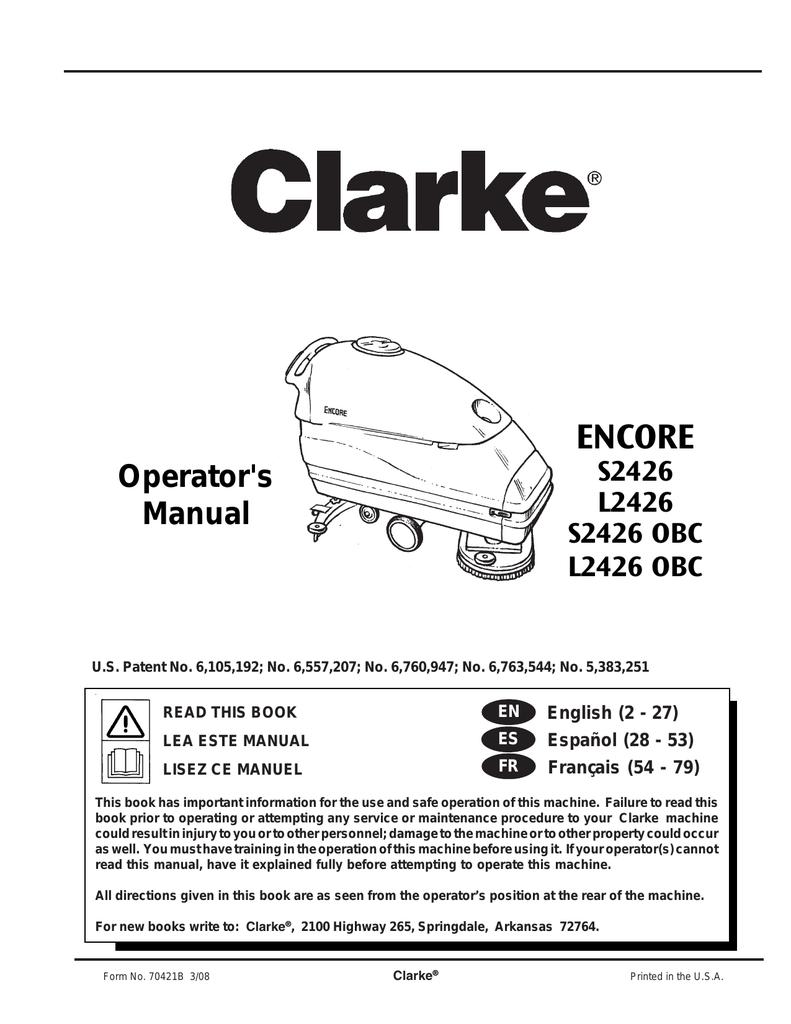 BRUSH COVER LATCH LEFT SIDE 55721A CLARKE ENCORE L2426 S2426 SCRUBBERS