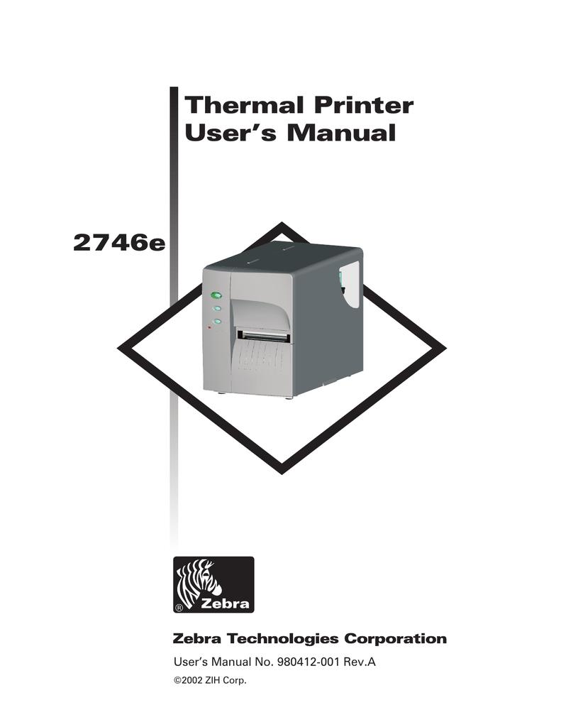 zebra 2746e user s manual manualzz com rh manualzz com 2746e zebra printer manual Zebra 105SL Manual