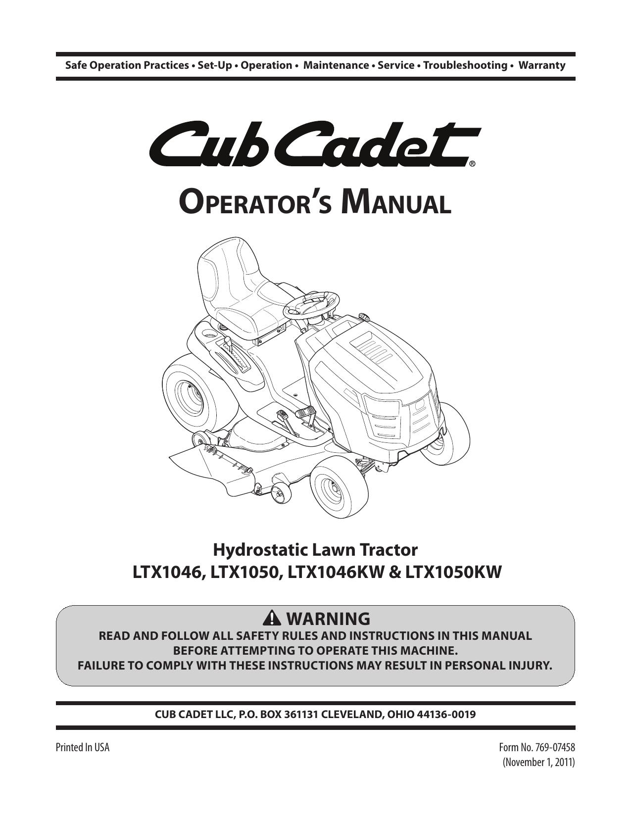 cub cadet ltx 1046 wiring diagram cub cadet ltx 1046 kw operator s manual manualzz  cub cadet ltx 1046 kw operator s manual