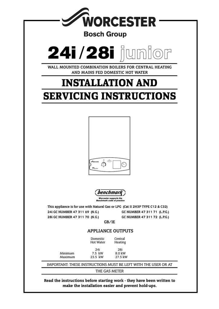 diagram worcester bosch greenstar 35 cdi installation and