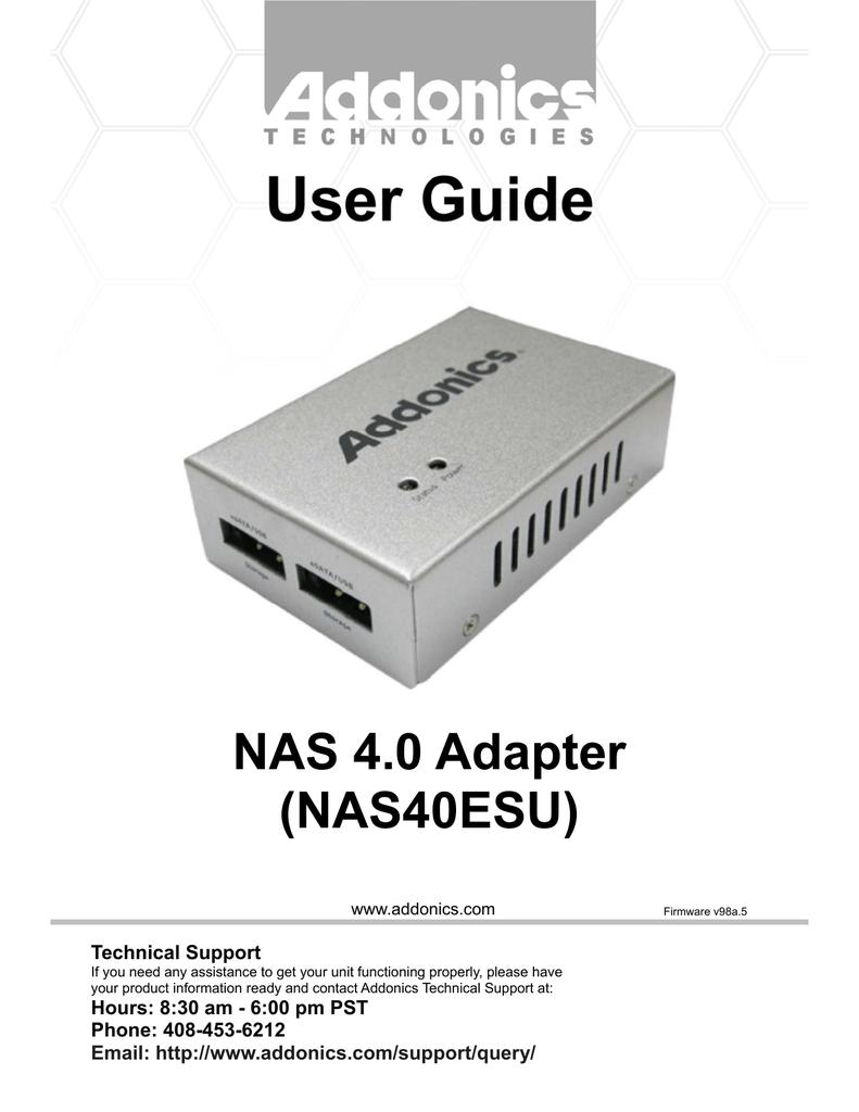Addonics NAS40ESU Nas 4.0 Adapter For Esata Or Pwr Usb Storage
