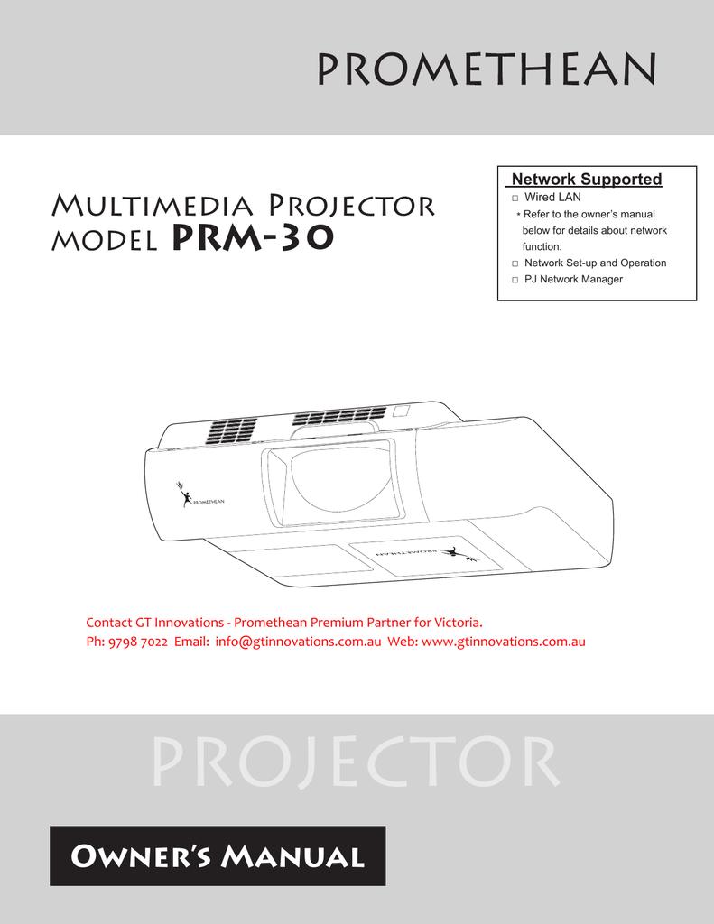 Promethean Prm 30a Owners Manual Wiring Board