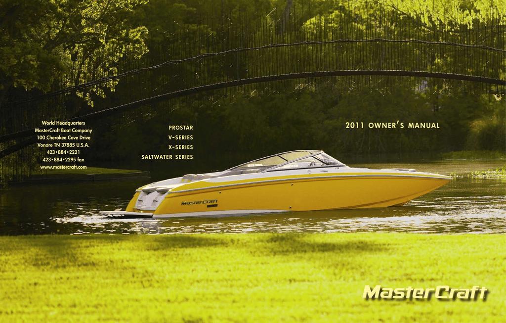 MasterCraft ProStar X14v Owner`s manual | manualzz com