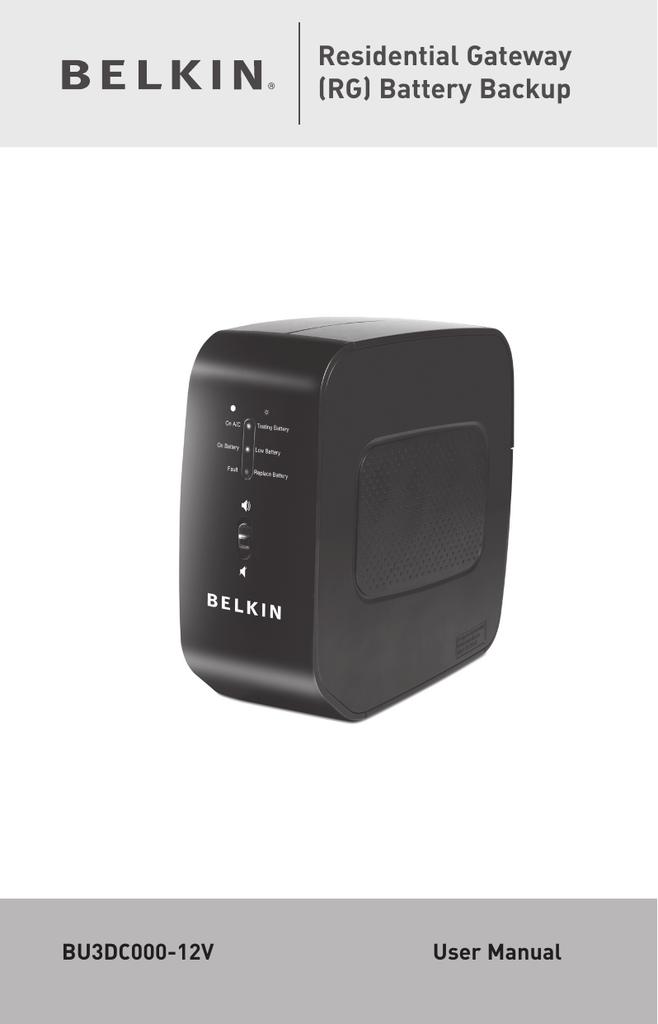 Belkin BU3DC000-12V User manual | manualzz com
