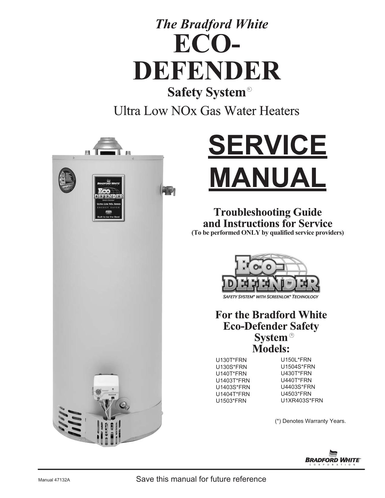 Bradford White Defender Water Heater Manual
