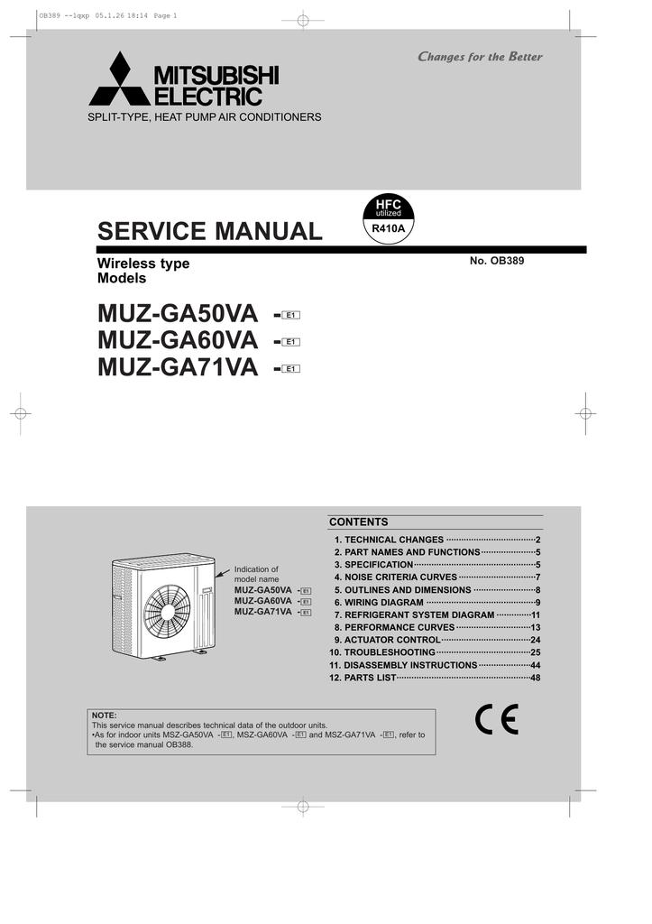 mitsubishi msz ga60va service manual manualzz com rh manualzz com Mitsubishi Air Conditioners Accessories Mitsubishi Heaters Remote Manual