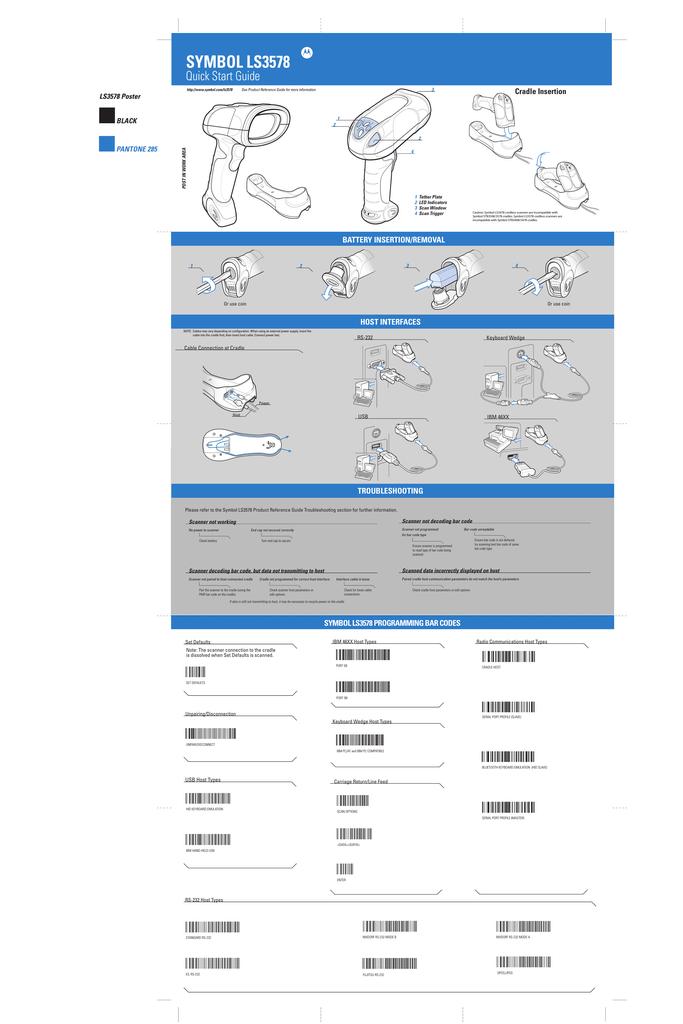 Motorola Symbol Ls3578 Specifications Manualzz