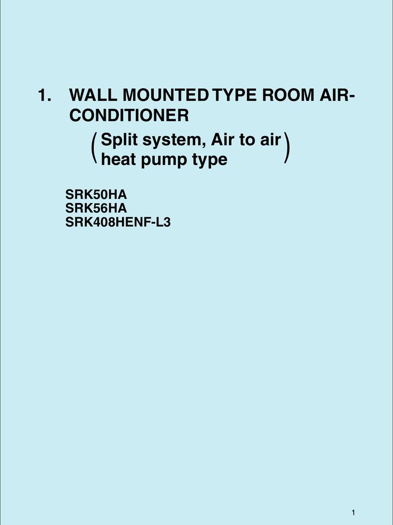 Mitsubishi SRK56A Specifications   manualzz.com
