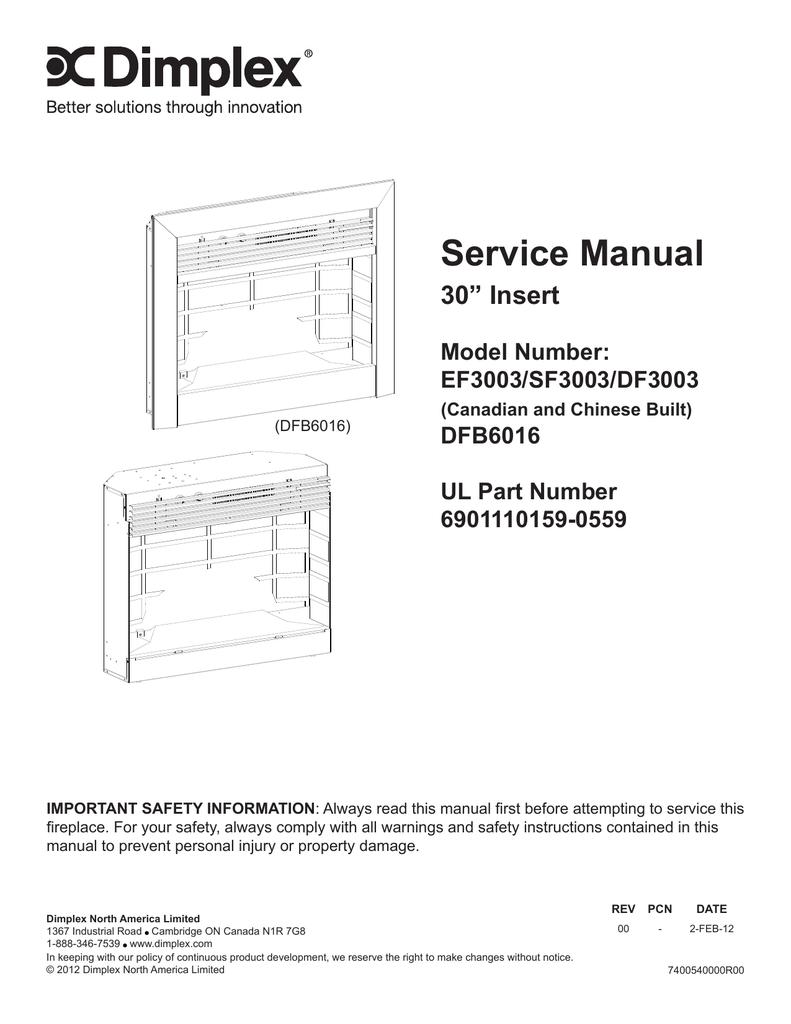 dimplex df3003 service manual