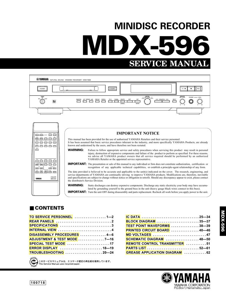 yamaha mdx 9 service manual manualzz com rh manualzz com 2007 acura mdx service manual 2009 acura mdx service manual