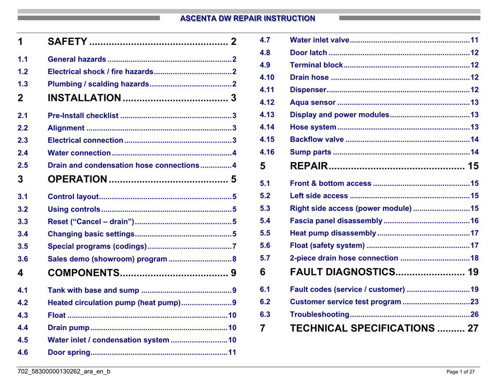Bosch Ascenta SHE4AP06UC Specifications | manualzz com