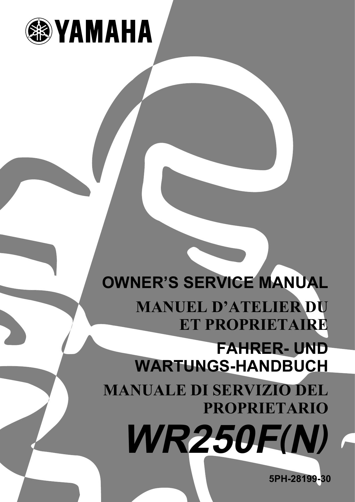 2001 WR250F User Manual (Keihin FCR-MX37 only)   manualzz com