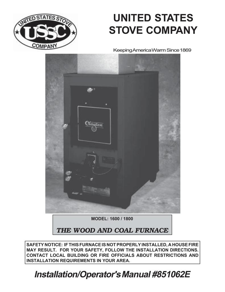 Us Stove Company Hotblast 1400 Operator S Manual