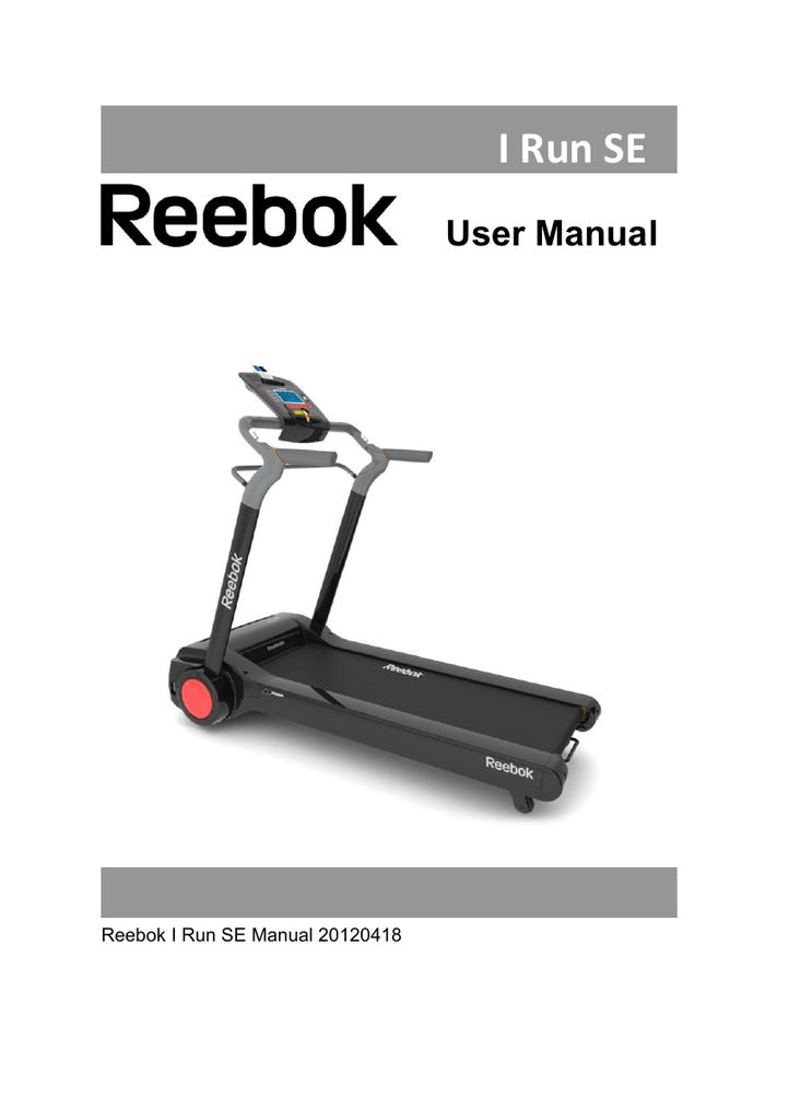 Reebok I Run Se User Manual Manualzz