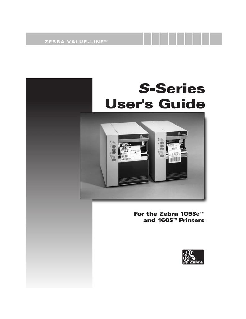 Zebra 160S User`s guide | manualzz com