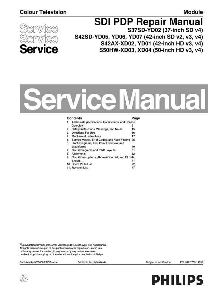 Philips 37PF9946/12 Repair manual   manualzz com