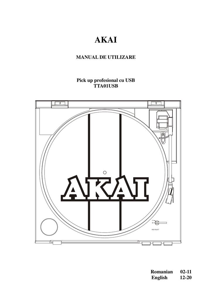 Akai TTA01USB Instruction manual   manualzz com