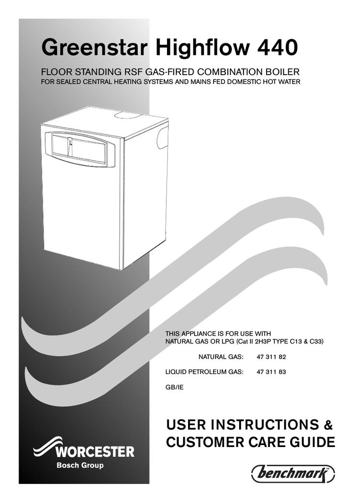 Operating Instruction Greenstar Highflow 440 | manualzz.com