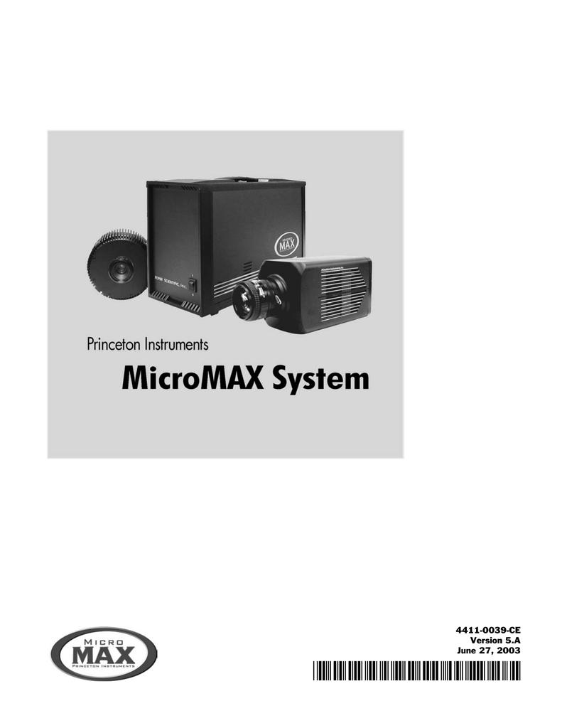 Roper MicroMAX User manual