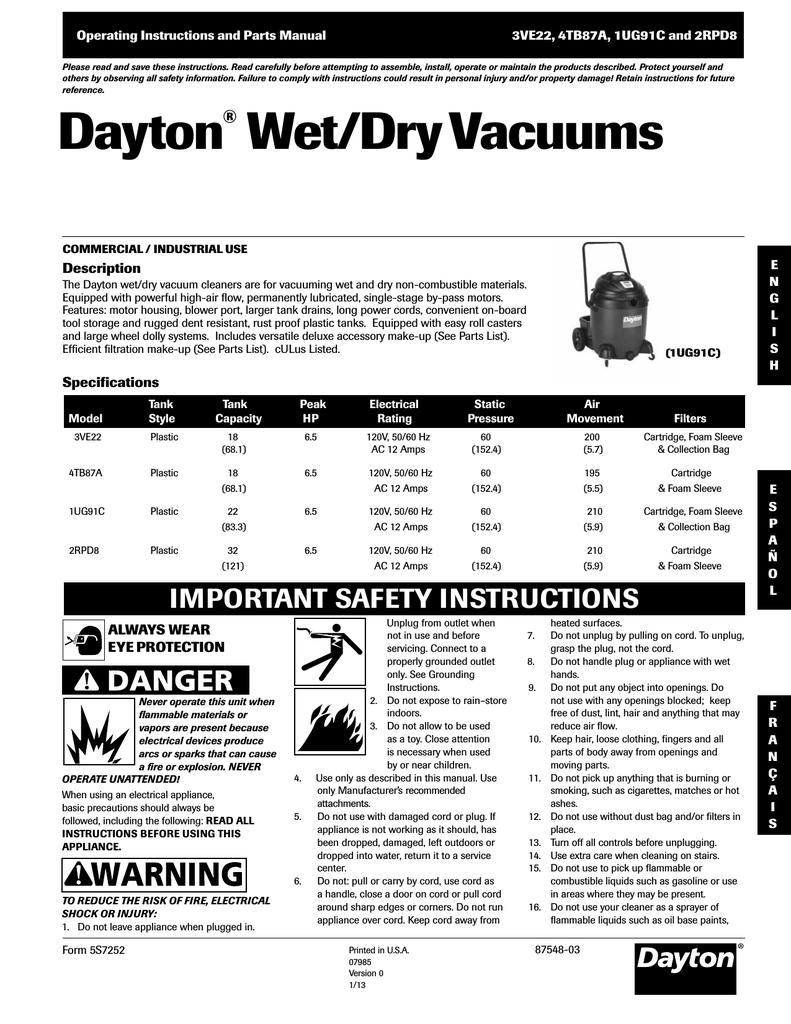 Dayton 2rpd8 operating instructions publicscrutiny Gallery