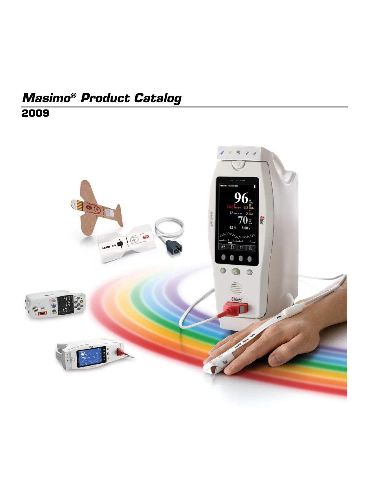Masimo® Product Catalog   manualzz com