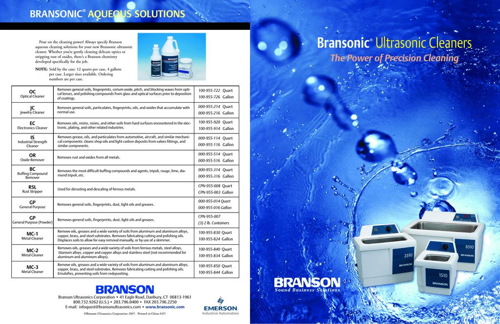 Branson PC-620-1 Operator`s manual | manualzz com