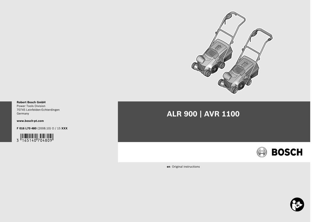 Bosch AVR 1100 Instruction Manual